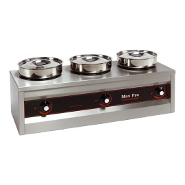 Max Pro 3-pans foodwarmer bain-marie