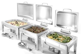 Chafing dish GN 12 satin finish