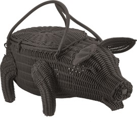 Decormand varken Piggy zwart_3527608