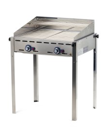 Hendi gasbarbecue, Model: Green Fire, 2 branders, RVS roosters
