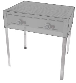Afdekhoes t.b.v. Hendi Green Fire Kitchen Line gasbarbeque